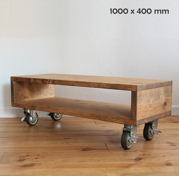 国産オリジナルオーダー家具 Rustic ラスティックアイアン ウッドTVボード キャスター 0220-tv-RI-500-100C
