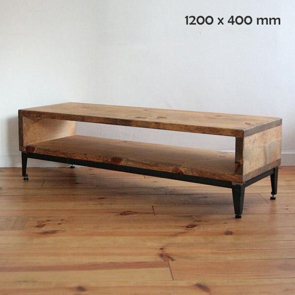 【店内全品ポイント10倍】国産オリジナルオーダー家具 Rustic ラスティックアイアン ウッドTVボード(アジャスターレッグ)0220-tv-RI-500-120A