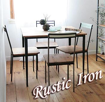 【店内全品ポイント10倍】国産オリジナルオーダー家具 Rustic ラスティックアイアン アイアンカフェテーブル(棚板あり) 900×9000220-dt-RI-103-90TN