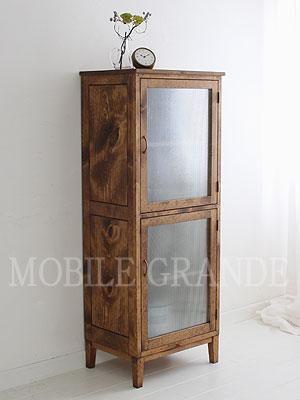 【店内全品ポイント10倍】国産オリジナルオーダー家具 Rustic Once 2ドアグラスキャビネットパイン材オーダー家具シリーズ 0220-cb-P205