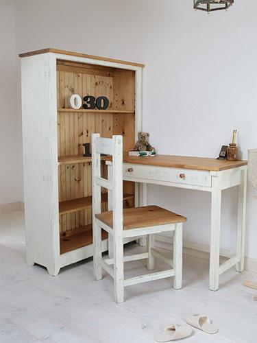 【店内全品ポイント10倍】国産オリジナルオーダー家具 Rustic ラスティックパイン シェルフデスク Cセット0220-kd-RT-111-setC
