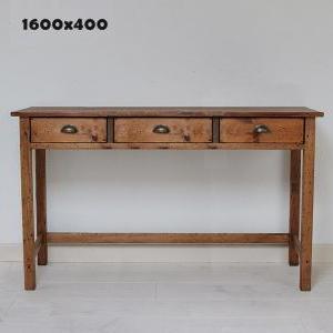 国産オリジナルオーダー家具 Rustic ラスティックパイン ワークデスク 1600×400 0220-dk-RT-105-160
