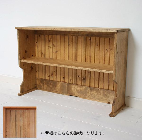国産オリジナルオーダー家具 Rustic ラスティックパイン アッパーラックワイド L 0220-dk-RT-108-L
