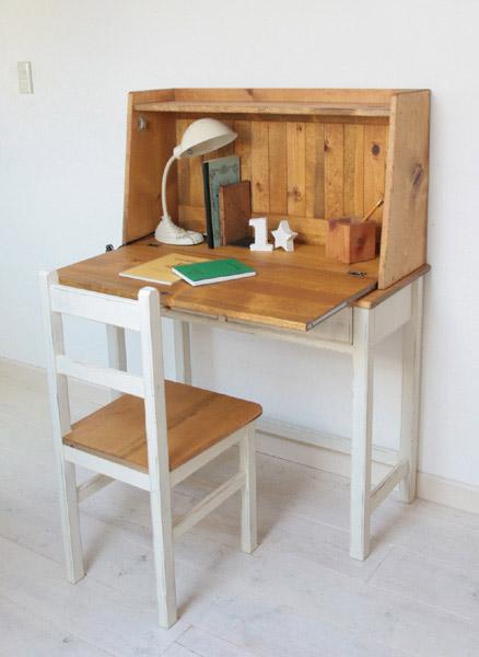 【ポイント10倍】 国産オリジナルオーダー家具 Rustic ラスティックパイン ライティングデスク ワーク 0220-dk-RT-119-122