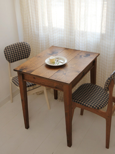 国産オリジナルオーダー家具 Rustic ラスティックパイン カフェテーブル 700×600 0220-dt-RT-202-70