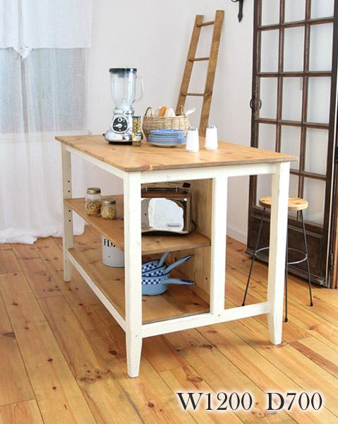 【店内全品ポイント10倍】国産オリジナルオーダー家具 Rustic ラスティックパイン カウンターテーブル(S)0220-dt-RT-407-S