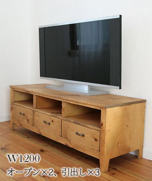 国産オリジナルオーダー家具 Rustic Rusticシリーズ テレビボードtypeC 0220-tv-RT-505-120