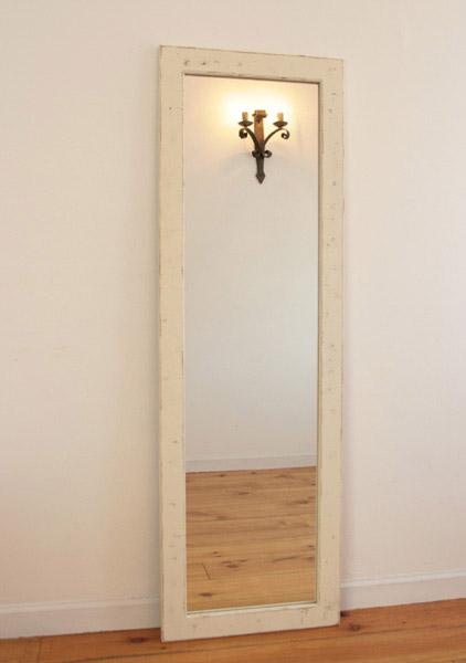 【店内全品ポイント10倍】【SALE 10%OFF】国産オリジナルオーダー家具 Rustic 壁掛けミラー Rustic Mirror L・WH ラスティックパインシリーズ0220-mr-RT-902-LWH