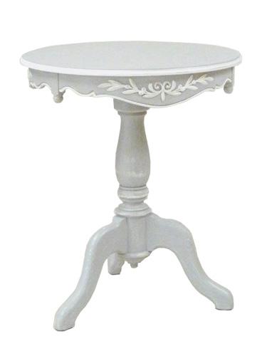 テーブル 机 コンソール ホワイト 木製 アンティーク ホワイト家具 ロマンチック 北欧 カフェ ナチュラル モダン パイン材 模様替え 引越 フランス家具 ティーテーブル グレー 0222-lt-0121152