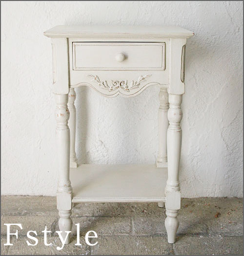 【店内全品ポイント10倍】コンソールテーブル サイドボード サイドテーブル ナイトテーブル 収納 ホワイト 木製 ロマンティック 北欧 カフェ ナチュラル モダンフランス家具 ホワイト ベッドサイドテーブル20222-lt-121003
