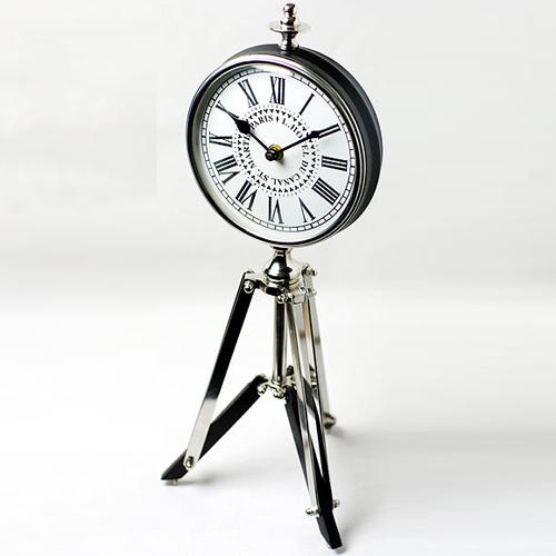 置き時計 シルバー SILVER CLOCK 0251-zk-39802KG
