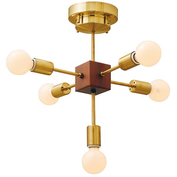 【店内全品ポイント10倍】【送料無料】シーリングライト Bollnas[ボルネス] E26/60W相当 ボール球形LED電球(電球色)×5付 --- Interform252l-lt-3817
