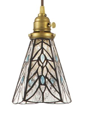 ステンドグラスペンダント ティアーズ 電球付属 灯具セット  LED電球対応 ランプシェード 洋風 0400-li-AW-0374V