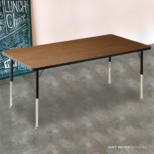 ダイニングテーブル ダイニング セット 木製 カントリー ダイニングチェア リビング 天板 コンソール 北欧 カフェ ナチュラル モダン 【VIRCO】4000 Table L 4000テーブル Lサイズ 0400-dt-TR-4228