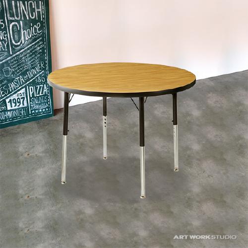 ダイニングテーブル ダイニング セット 木製 カントリー ダイニングチェア リビング 天板 コンソール 北欧 カフェ ナチュラル モダン 【VIRCO】4000 Table Round S 4000テーブルラウンド Sサイズ 0400-dt-TR-4274