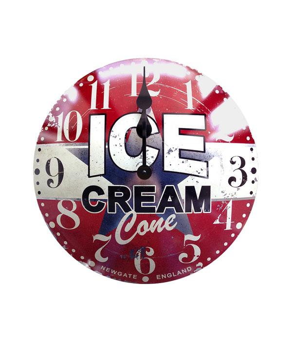 【NEW GATE】Ice cream advertising clock アイスクリームアドバタイジングクロック  0400-zk-TR-4285