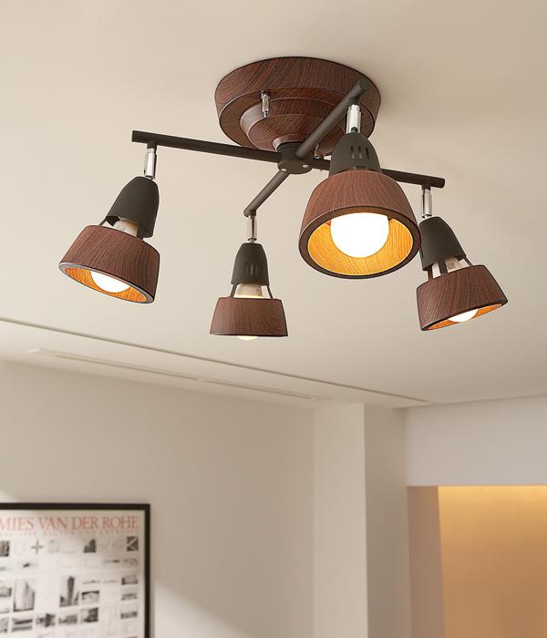 【店内全品ポイント10倍】【送料無料】4灯シーリングライト ウッドシェードHARMONY X-REMOTE CEILING LAMP (ハーモニーエックスリモートシーリングランプ)0400-li-AW-0322V
