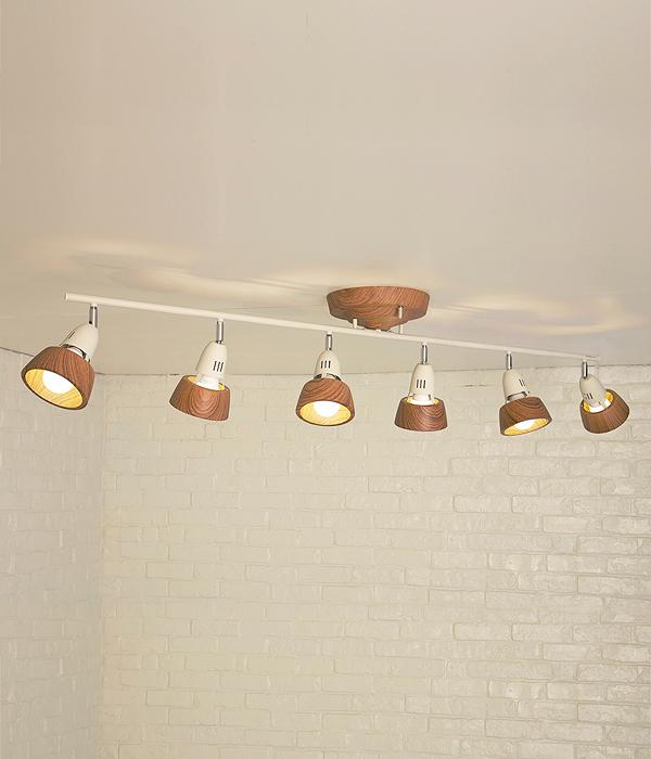 【店内全品ポイント10倍】【送料無料】6灯シーリングライト 木目調HARMONY 6-REMOTE CEILING LAMP (ハーモニーシックスリモートシーリングランプ)0400-li-AW-0360V