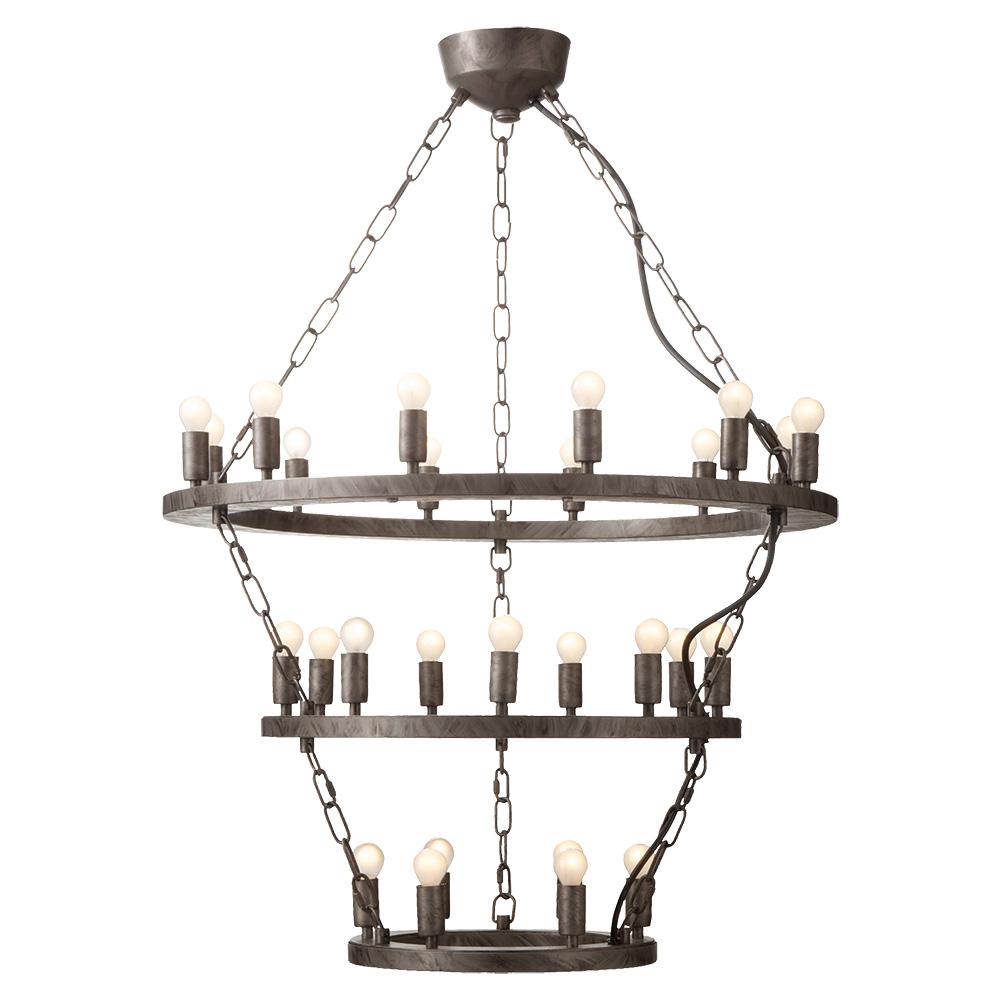 7灯シャンデリア ブラックアイアン ELEMENTS エレメンツ  0400-li-AW-0383V