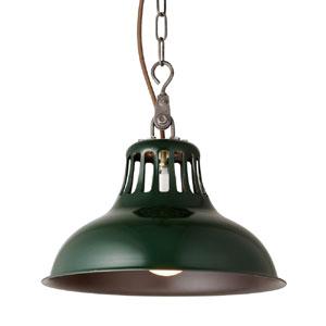 1灯ペンダントライト スチール ユニオンペンダント グリーン 電球付属/灯具セット  0400-li-AW-0384V-GN