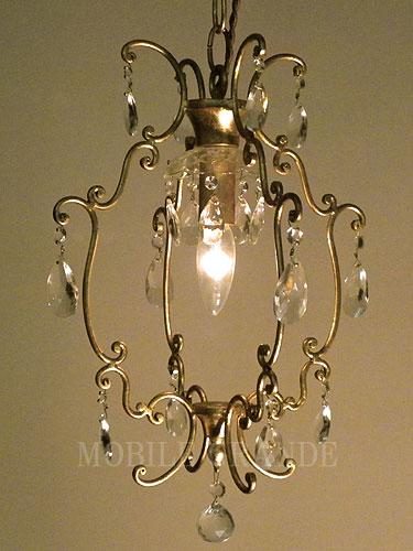 アンティークスタイル アイアンシャンデリア1灯 ゴールド 0516-li-AW-C06-GL