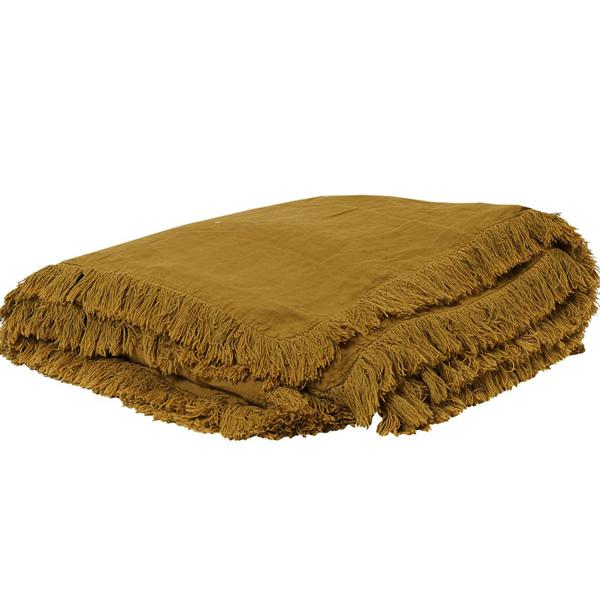 キルト マルチカバー ベッドスプレッド フランス雑貨 Bed and philosophy 150x150 カバーリングタイプ バターナッツ色  0827-zk-snob1-butternut