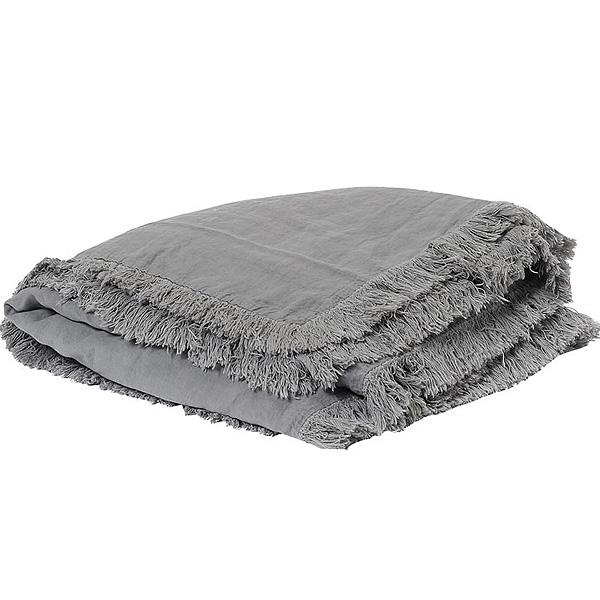 キルト マルチカバー ベッドスプレッド フランス雑貨 Bed and philosophy 150x150 カバーリングタイプ グレー  0827-zk-snob1-orage