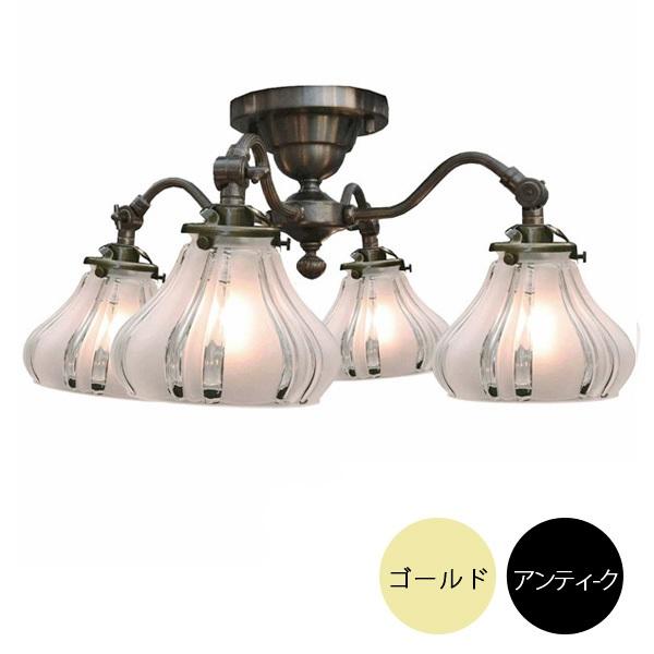 4灯シーリングライトセット シーリングランプ (60Wx4灯)※電球別売【2色展開】  147l-ss1304a360