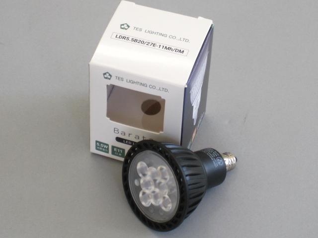 【最新モデル・即納】 ☆MR16 100V ダイクロハロゲン電球代替タイプ☆ LDR5.5B20/27E-11Mh/DM (10個単位) TES/テス LED電球 JDR50W相当 調光対応 径50mm E11 色温度2700K 電球色 中角 黒