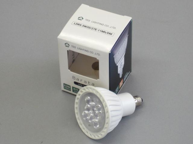 【最新モデル・即納】 ☆MR16 100V ダイクロハロゲン電球代替タイプ☆ LDR5.5W20/50E-11Mh/DM (10個単位) TES/テス LED電球 JDR50W相当 調光対応 径50mm E11 色温度5000K 昼白色 中角 白