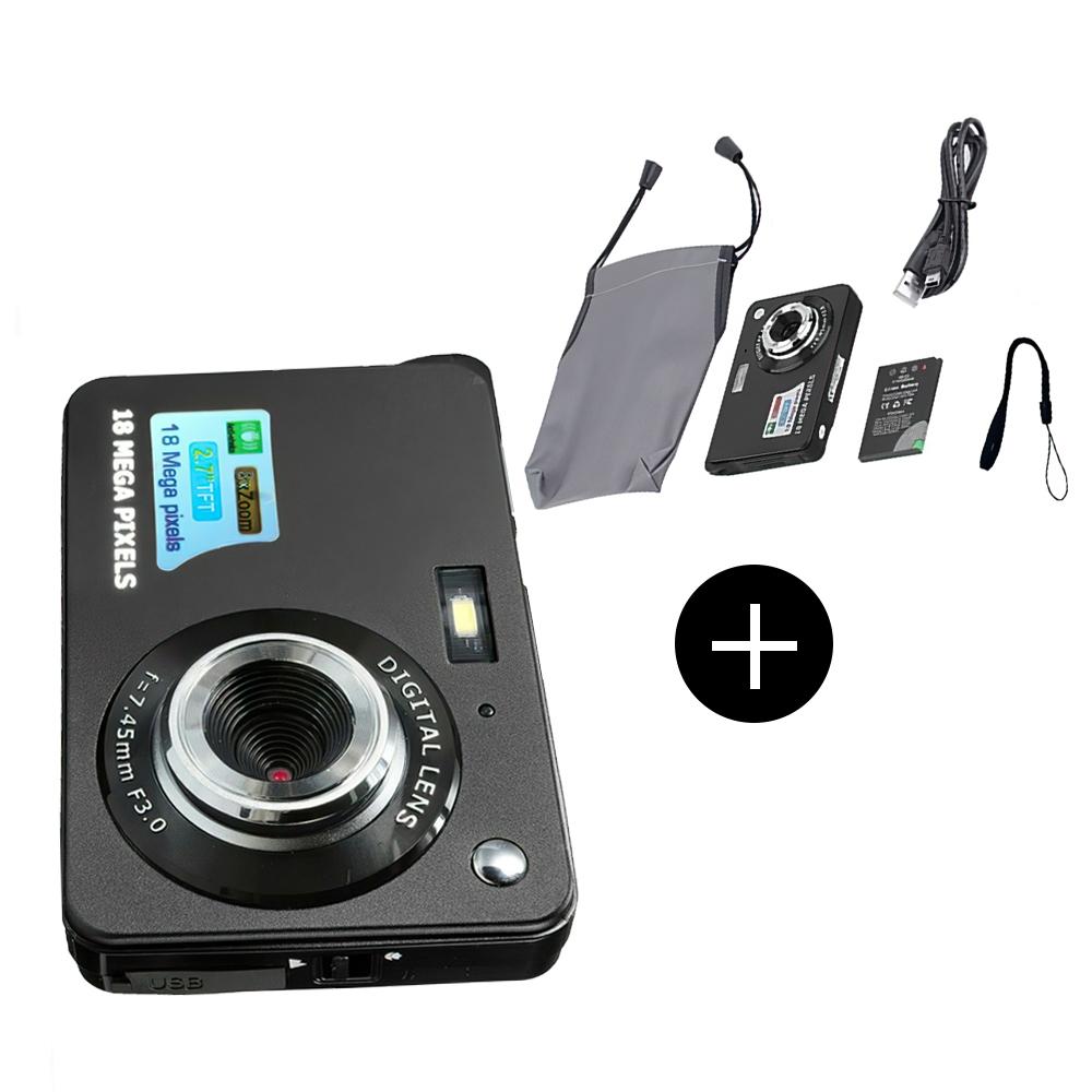 デジタルカメラ スクリーンレコーダー 1080PHD18MPデジタルズーム2.7インチTFTLCDスクリーンレコーダー 売り出し 内蔵の懐中電灯 録音機能 マルチモード 防振 顔検出 毎日がバーゲンセール
