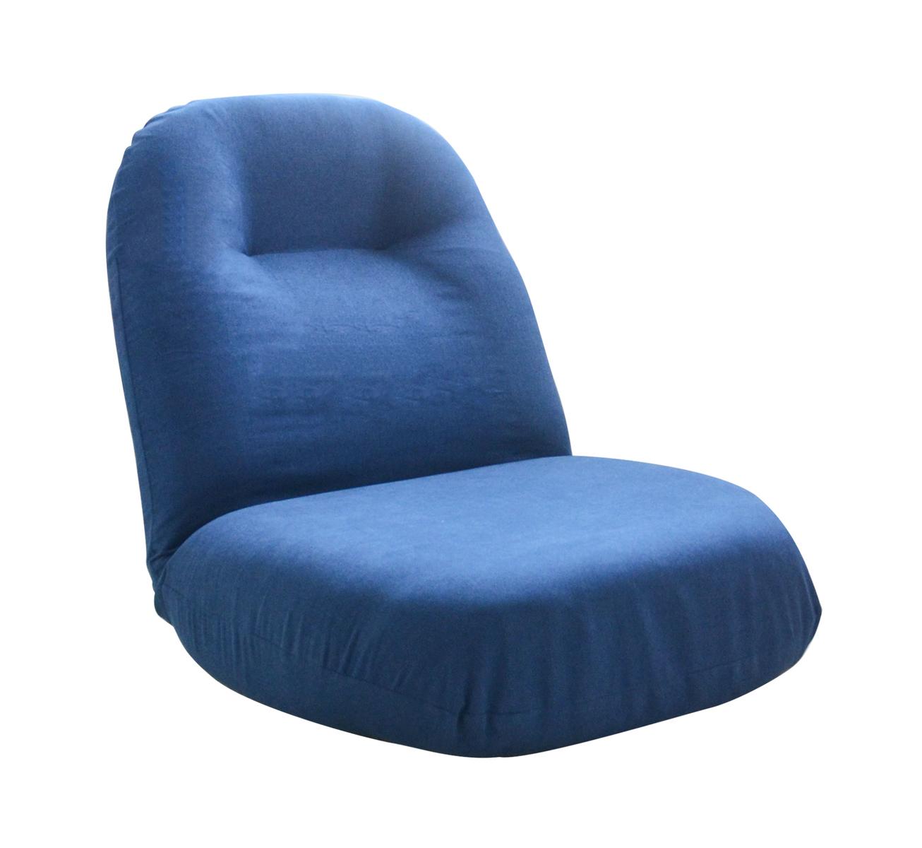 激安通販ショッピング 座椅子 一人掛け イス 座イス 座いす チェアー フロアチェア いす おしゃれ チェア 北欧 在宅勤務 椅子 ソファー ネイビー 超目玉 テレワーク