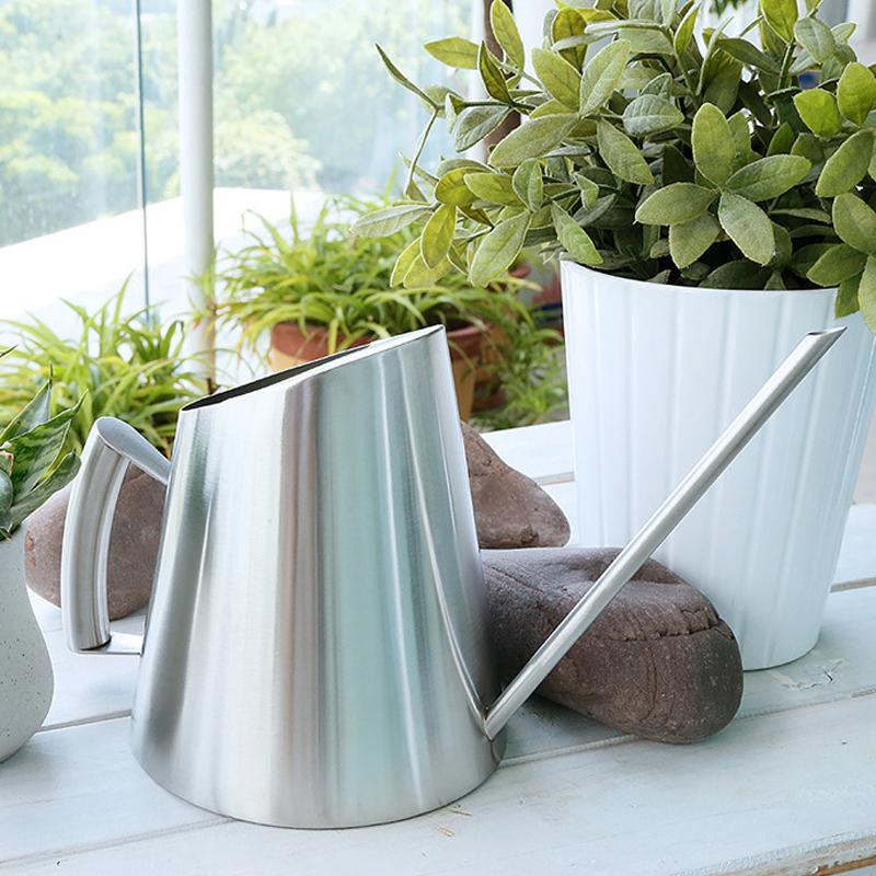 長口水缶 ステンレス鋼 ガーデンケトル 花植物散水ポット 大容量1500ml 花植物じょうろ じょうろ シルバー 引出物 送料無料 激安 お買い得 キ゛フト ガーデニングツール