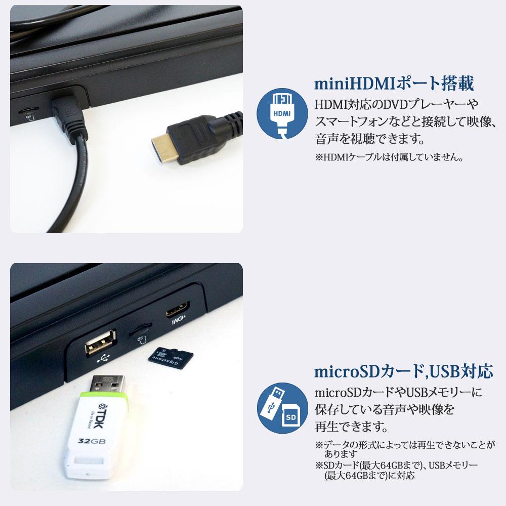フリップダウンモニター 17.3インチ HDMI USB microSD 高画質 FullHD 1年保証 あす楽  [F1731BH]