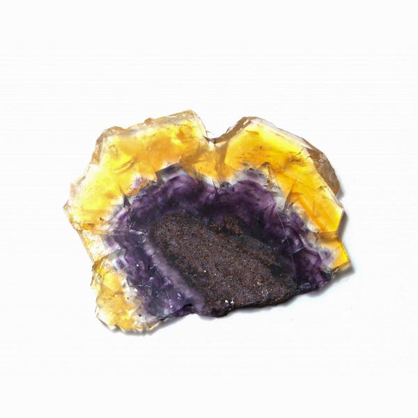 「思考力を高める天才の石」フローライトスライス(ナミビア・エロンゴ産)【FLRRC-044】
