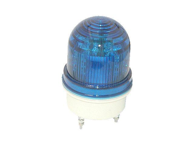 サンローターRL-24-BB-PU-M4回転灯/青グローブ/青LED/DC24V/防滴構造/送料無料