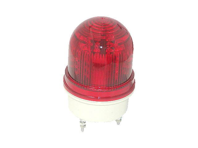 サンローターRL-12-RR-PU-M4回転灯/赤グローブ/赤LED/DC12V/防滴構造/送料無料