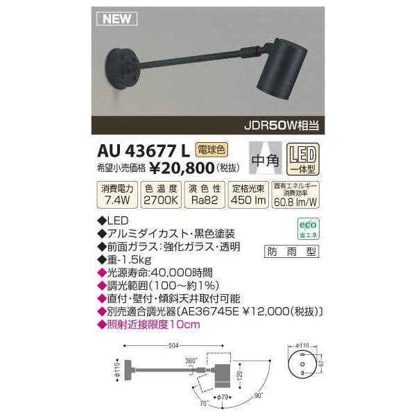 コイズミ照明 LEDアウトドアスポットXU39037L