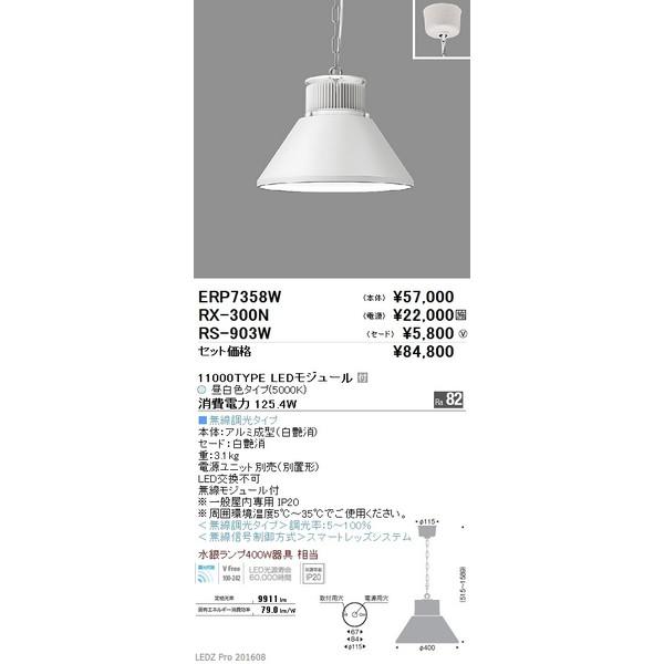 ENDO遠藤照明LEDベースライトペンダント本体(セード・電源別売)ERP7358W
