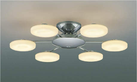 KOIZUMIコイズミ照明リモコン付LEDシャンデリア~8畳電球色調光タイプAA42108L