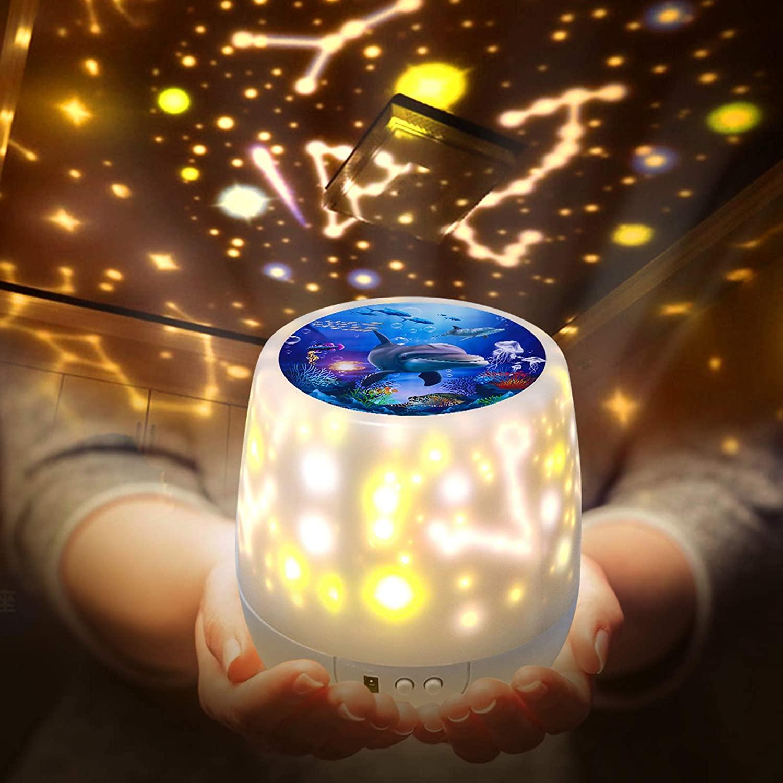 ベッドサイドランプ 投影ランプ スタープロジェクター LFDDM プラネタリウム 常夜灯 星空ライト 家庭用 プラネタリウム雰囲気を作り 電池 兼用寝室用 5 SALE開催中 セット投影映画 360度回転 USB 初回限定 星空投影 多色変更可能