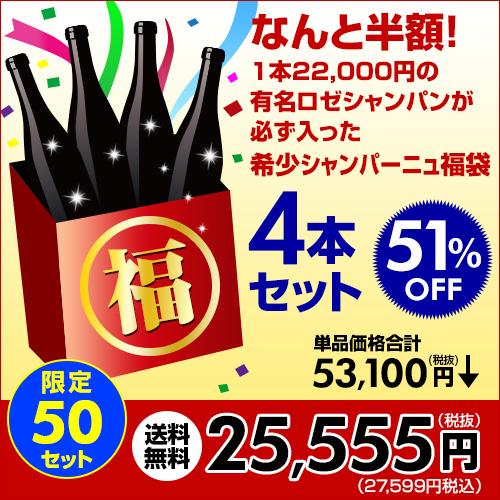 ワイン福袋4本入25,555円税別送料無料