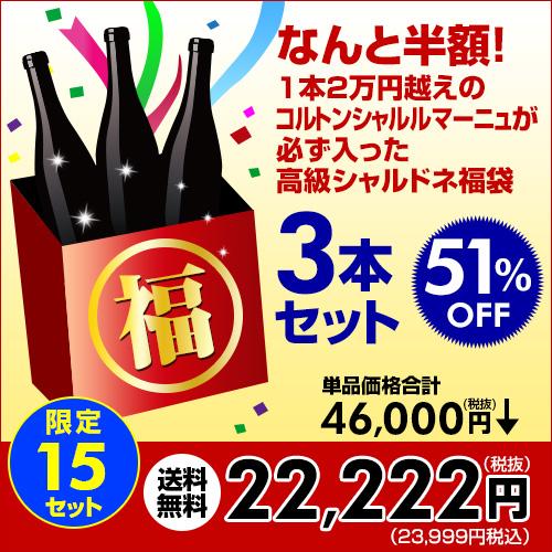 ワイン福袋3本入22,222円税別送料無料