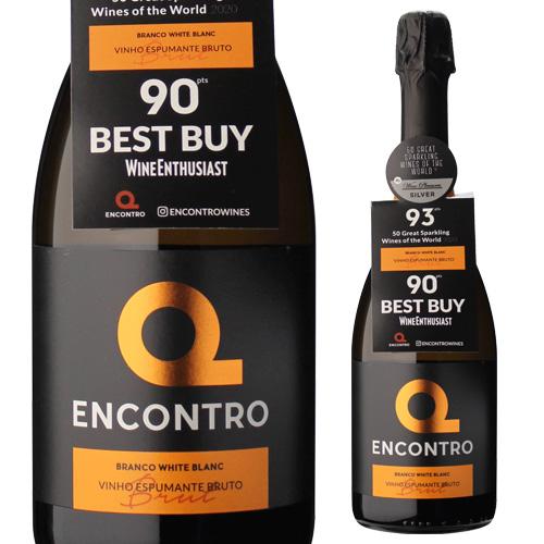 ワインエンスージアスト90点獲得 エンコントロ 春の新作続々 迅速な対応で商品をお届け致します ブリュット 白 750ml 辛口 泡 ポルトガル