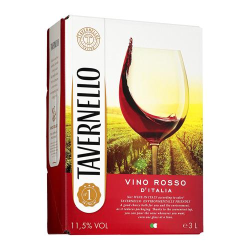 タイムセール 香り豊かで爽やかな赤ワイン 《箱ワイン》タヴェルネッロ ロッソ イタリア3L ボックスワイン 新作送料無料 バッグインボックス BOX BIB 長S