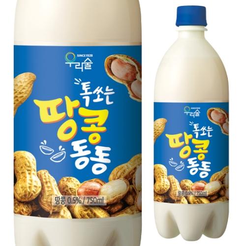 しゅわっと ピーナッツマッコリ 750ml 6度 ウリスル 韓国 韓国酒 微炭酸 マッコリ カクテルマッコリ まっこり