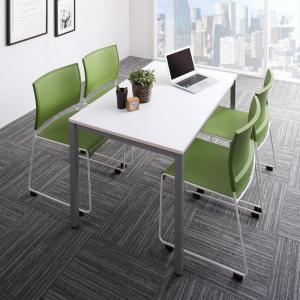 ミーティングテーブル&スタッキングチェアセット Sylvio シルビオ 5点セット(テーブル+チェア4脚) W120