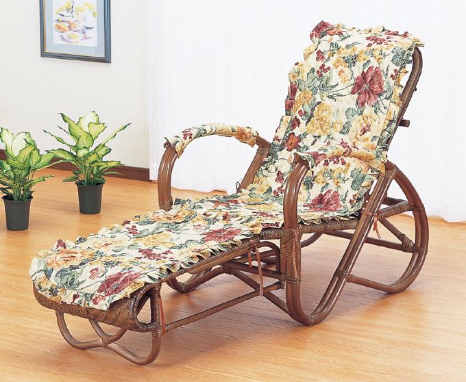 正規取扱店 籐三ツ折寝座椅子 上質