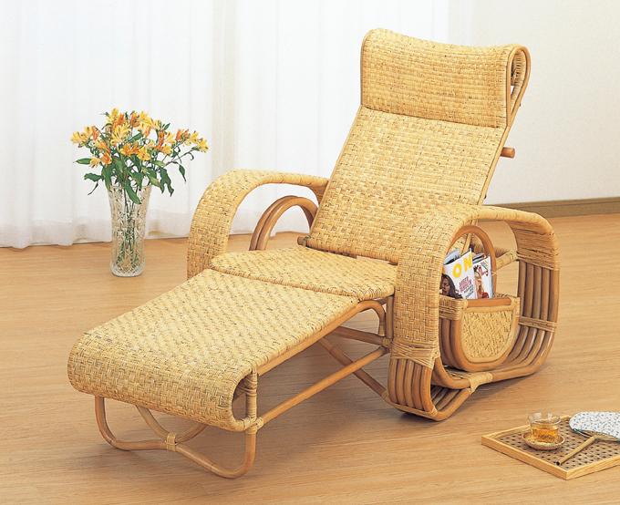 籐デラックス三ツ折寝椅子