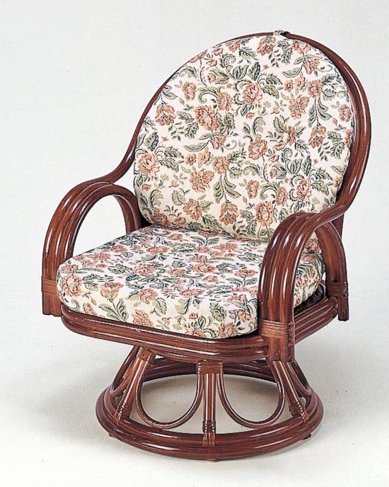 籐回転チェア ラタンチェア 籐製ラウンドチェアー 激安通販販売 リビング椅子 人気海外一番
